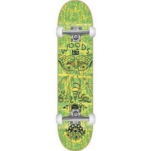 Habitat Woods Bamboo Complete Skateboard   8.25 w/Raw Trucks & Wheels