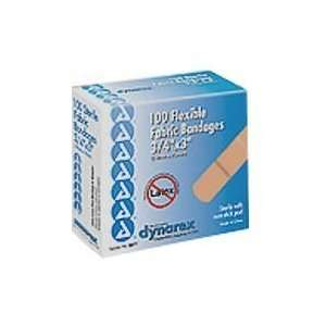 Flexible Fabric Adhesive Bandages, 3/4 Inches X 3 Inches   100 per Box