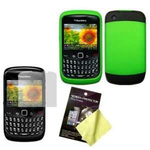 Green/Black Two Tone Soft Touch Hard Case / Cover / Shell