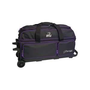 BSI Purple/Black 3 Ball Roller Bowling Bag