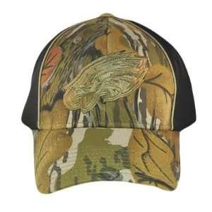 PHILADELPHIA EAGLES FLEX FIT BLACK CAMO HAT CAP SM