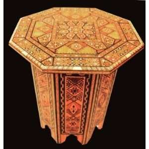 New Mosaic Wood Mother of Pearl Coffee Side Table /Bar Home & Kitchen