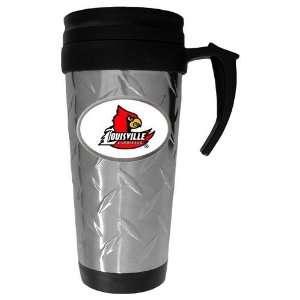 Cardinals NCAA Team Logo Diamond Plate Travel Mug