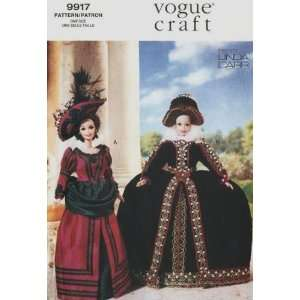 Fashion Doll Historical Costumes Sewing Pattern ~ Barbie 11.5 Dolls