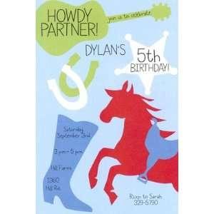 Cowboy Party, Custom Personalized Boy Birthday Invitation, by Inviting