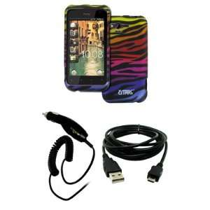 Case Cover + Car Charger (CLA) + USB Data Cable [EMPIRE Packaging