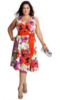 Yuliya Raquel Plus Size Vintage Floral Dress: Yuliya Raquel: Clothing