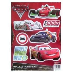 Disney Pixar Cars 2 Wall Sticker Kit Toys & Games