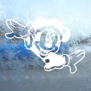 Disney White Decal Mickey Minnie Mouse Laptop Window White