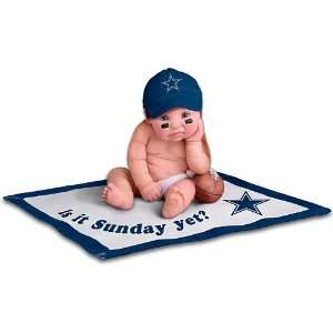 NFL Dallas Cowboys #1 Fan Baby Doll Collection Toys & Games