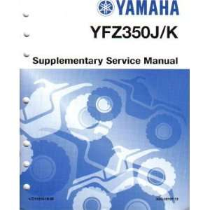 Yamaha YFZ350 Factory Service Manual Supplement Yamaha Motors Books