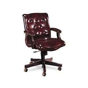Hon 6540 Series Executive Mid Back Swivel Chair, Burgundy