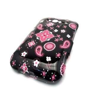 HTC Wildfire S Black Pink Bandana Design Case Cover Skin