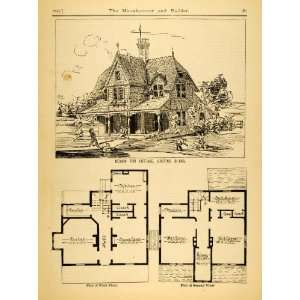 Floor Plans Rosenstock   Original Halftone Print