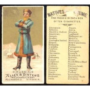 1886 Allen & Ginter N16 Natives in Costume (Non Sports