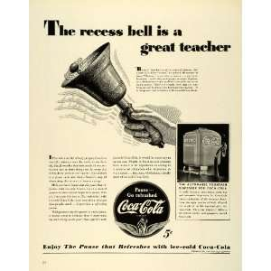 1941 Ad Coca Cola Coke Soda Pop Fountain Dispenser Teacher Recess
