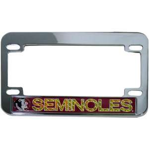 NCAA Florida State Seminoles Hologram Chrome Motorcycle License Plate