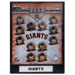 2008 San FrancIsco Giants Team Photograph Nested on a 9x12 Plaque
