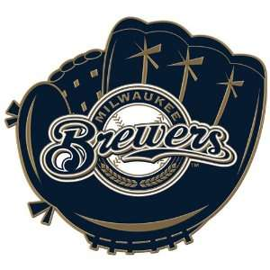 Milwaukee Brewers Logo in Glove Cloisonne Pin: Sports & Outdoors