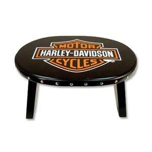 Harley Davidson Emblem Stool: Home & Kitchen