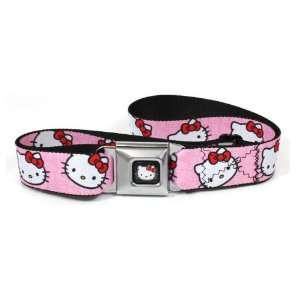 Hello Kitty Red Bow Pink Back Ground Seatbelt Belt Adjustabel up to 45