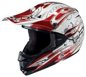 HJC CL X5N FANG MC1 WHITE/RED/BLACK MOTORCYCLE Off Road Helmet
