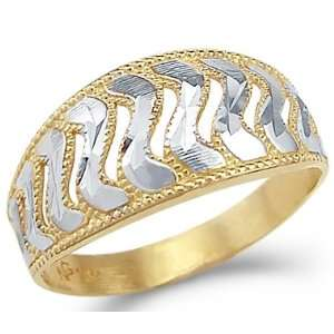 12.5   14k Yellow and White Gold Two Tone Fashion Ladies Ring Jewelry