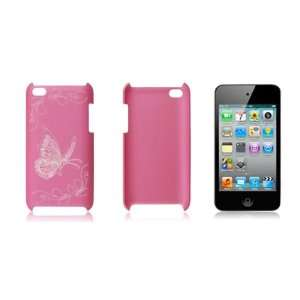 Hard Plastic Butterfly Case Cover Pink for iPod Touch 4G Electronics
