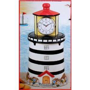 Lighthouse Ceramic Cookie Jar Clock DK 3063