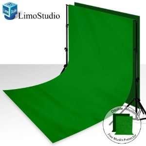Backdrop Support System Kit + 6 x 9 100% Cotton Green Chroma Key