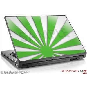 Large Laptop Skin Rising Sun Japanese Green Electronics