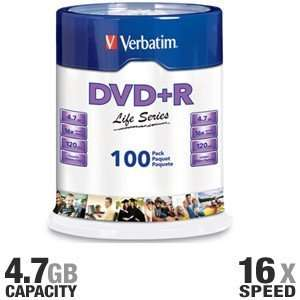 97175 Life Series DVD+R Spindle   100 Pack, 16X, 4.7GB Electronics