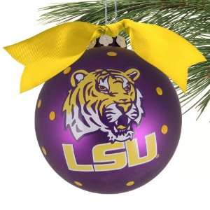 LSU Tigers Purple Team Logo Christmas Ornament Sports