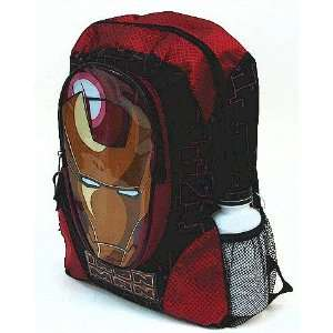 Iron Man Large Black and Red Backpack School Bag Toys