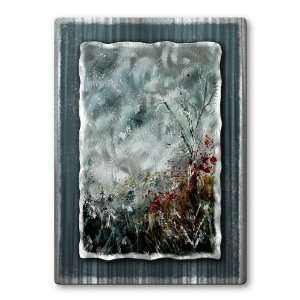 field trees flowers metal wall art, modern home decor, metal wall