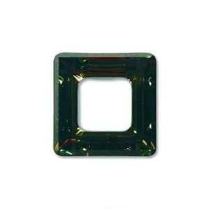 Tabac Swarovski Crystal Square Frame Charm 4439 14mm