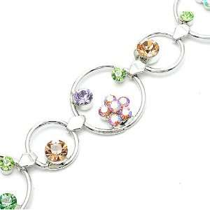 com Perfect Gift   High Quality Flower in Circle Bracelet with Multi