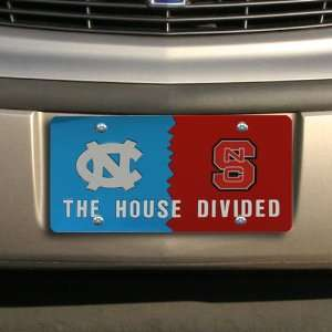 North Carolina State Wolfpack House Divided License Plate Automotive