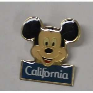 Vintage Enamel Pin Disney Mickey Mouse California