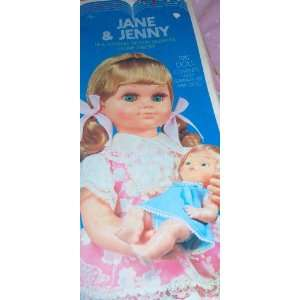 Vintage 19.5 Doll with 6.5 Baby Doll Musical Jane & Jenny Toy