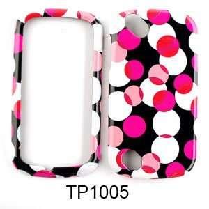 Pantech Laser P9050 Muiti Pink Polka Dots on Black Hard Case/Cover