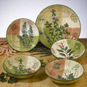 Herb Garden Pasta/Salad Bowl Set