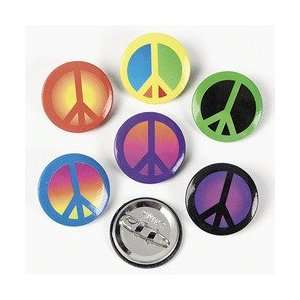 48 Pc Colorful Peace Sign Buttons. Fantasic For Groovy, Peace Sign