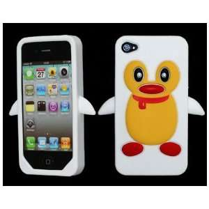 Hot Penguin Soft Silicone Rubber Skin Case cover for Apple