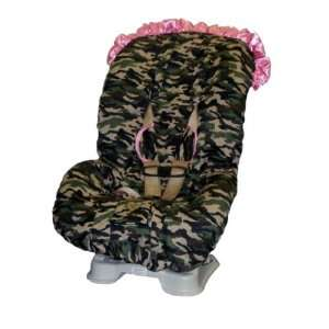 Daddy Camo wtith Pink Ruffle TODDLER CAR SEAT COVER Baby