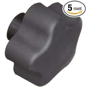 DimcoGray Black Thermoplastic 5 Lobe Fluted Soft Feel Knob Female