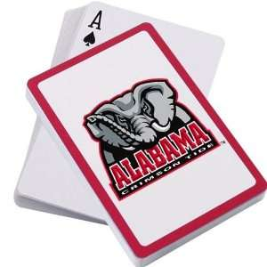 Alabama Crimson Tide Logo Playing Cards:  Sports & Outdoors