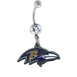 Baltimore Ravens NFL Sexy Belly Navel Ring Jewelry