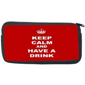 have a Drink   Red Neoprene Pencil Case   pencilcase   Ipod Case   PSP