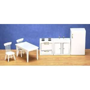 Dollhouse Miniature White Kitchen Set Everything Else